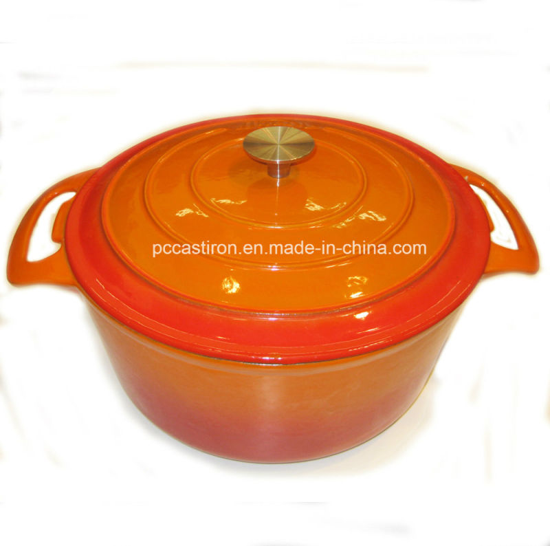 Round Cast Iron Casserole Cookware with Enamel Coating