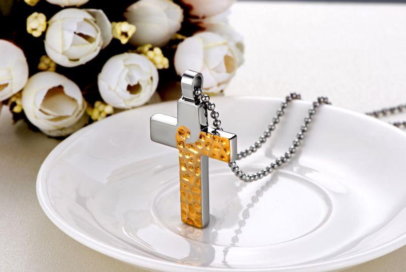 Two Colors Cross Men Jewelry Pendant