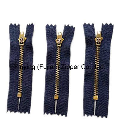 Close End Y Teeth Metal Zipper