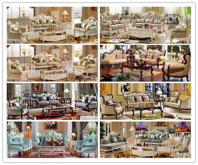 Classic Leather Sofa Sets for Living Room Furniture (510C)