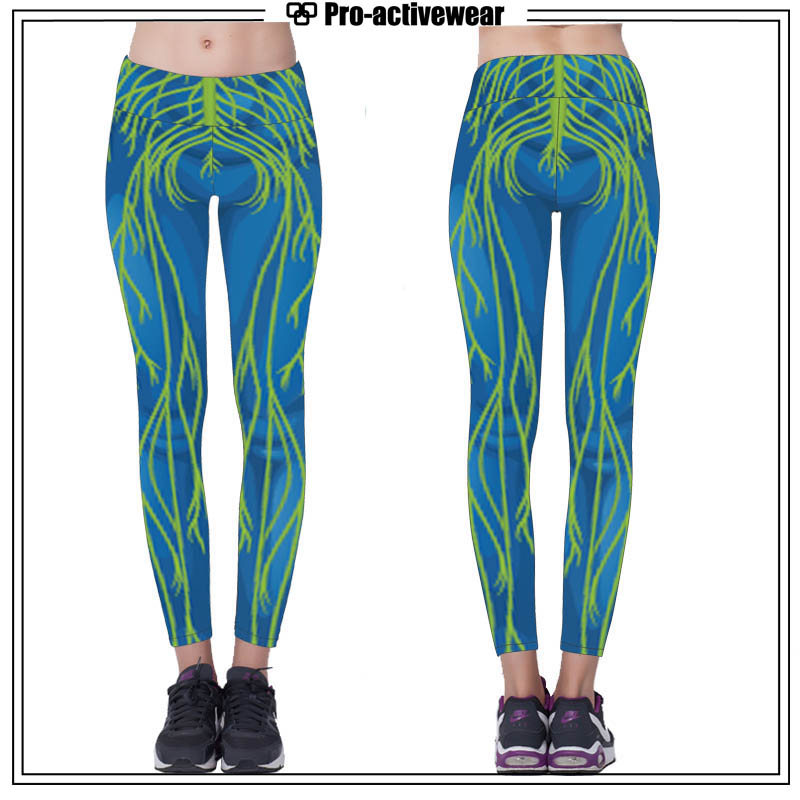 OEM Polyester Spandex Sublimation Women Wholesale Yoga Fitness Leggings
