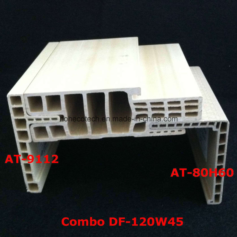 Df-120W45 E Style WPC Door Frame WPC Door Jamb PVC Foamed Door Pocket Df-120W45