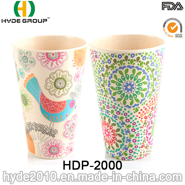 Customized Fashionable Eco-Friendly Bamboo Fiber Cup (HDP-2000)