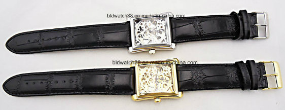Fashion Stainless Steel Ladies Watch for Womens with Leather Band
