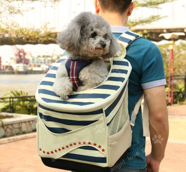 Firm Navy Style Shoulder Pet Product Pet Carrier
