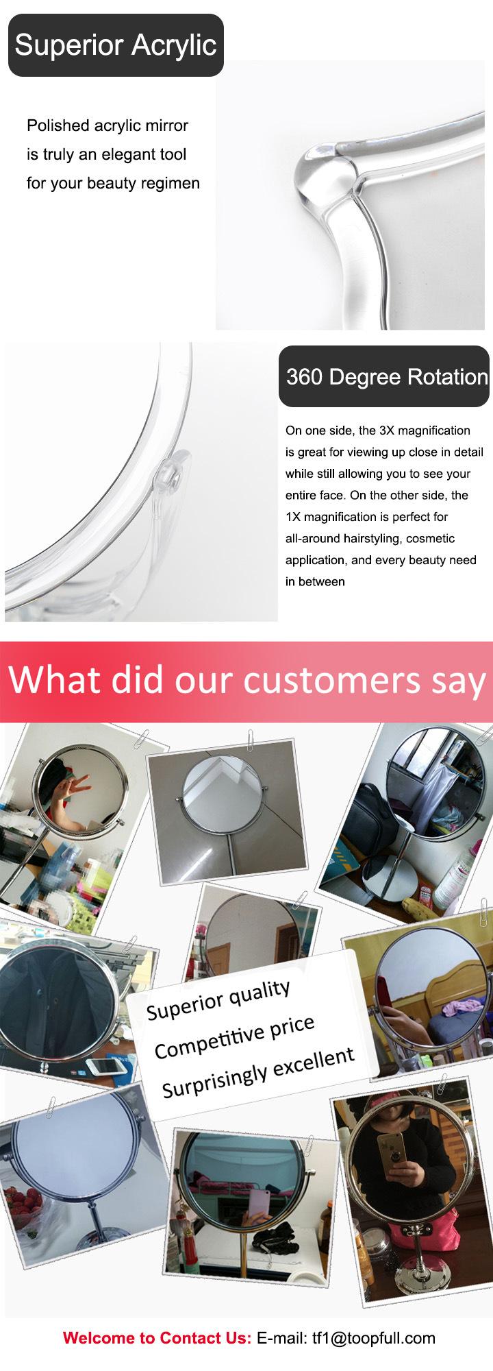 Transparent Acrylic Petit Round Table Impressions Vanity Mirror