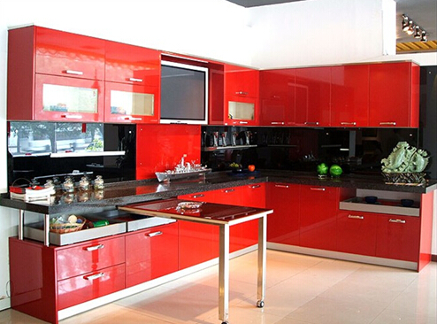 Frosted Glass Kitchen Cabinet Doors (customized)