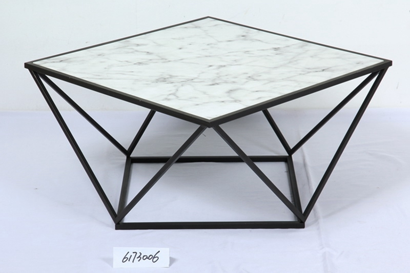 White Modern Marble Top Coffee Table
