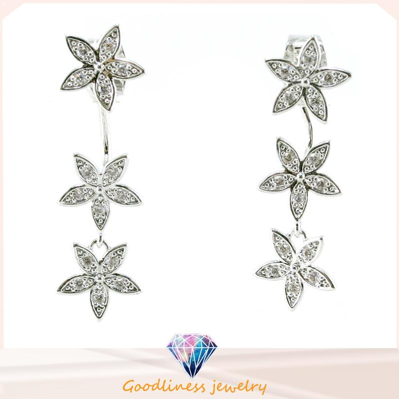 Good Quality ⋆ Pattern Design Fashion Jewelry China Whole Jewelry 3A CZ 925 Silver Jewelry Earring (E6522)
