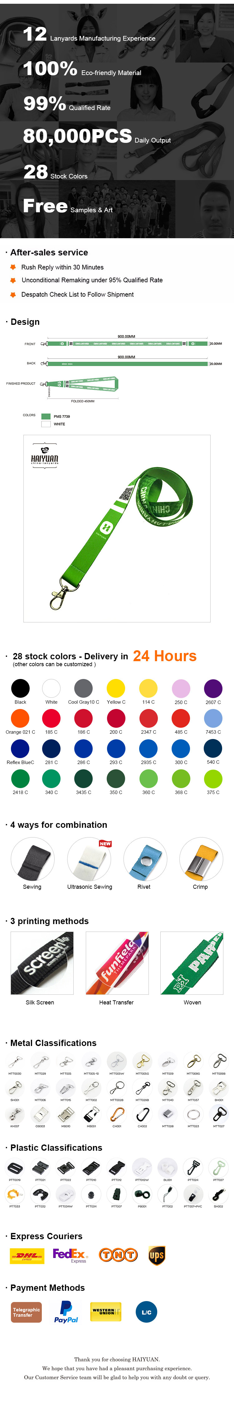 Fashion Customized Polyester Lanyard with Your Logo (Directly from factory)