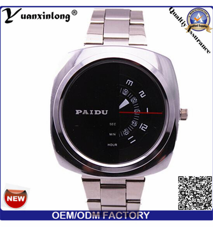 Yxl-368 Man Watch Square Face Chronograph Quartz Stainless Steel Watch Paidu Business Luxury Mens Watches Wholesale