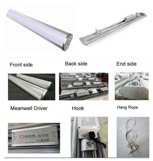 Factory Sale IP65 1200mm 150W Transparent Exterior LED Linear Lighting