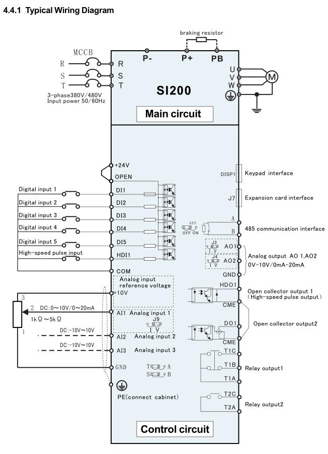 Three Phase DC250V-800/AC Input Solar Pumping Inverter Driving AC Pump Output 3000W 380V