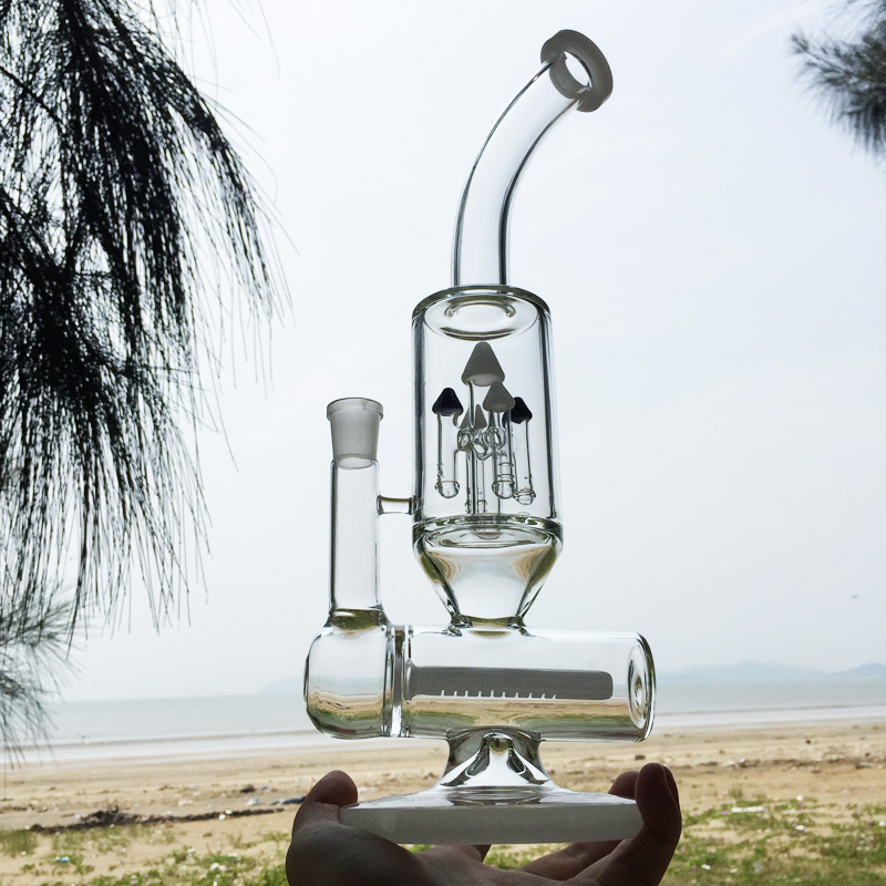 Winter Newest Design White Glass Smoking Water Pipes (ES-GB-297)