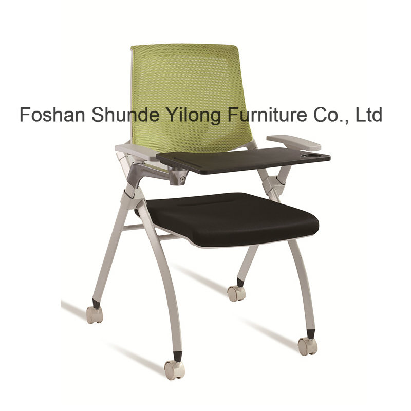 Stackable Fabric Tablet Chair for Schools with Folding Writing Board