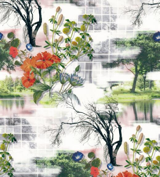 Beautiful Design Digital Printed Woven Garment Fabric