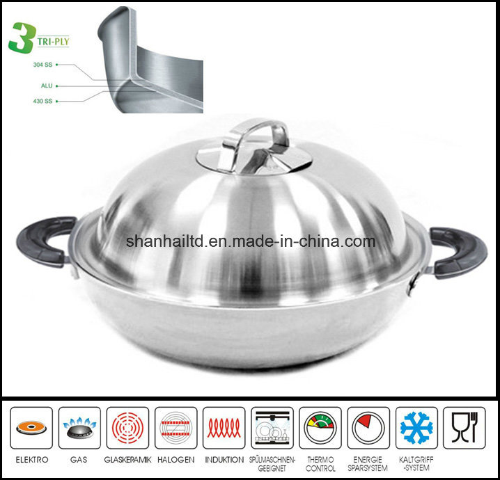 3ply Body Induction Chinese Wok
