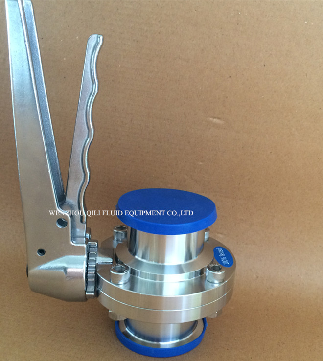 Stainless Steel Clamped Sanitary Butterfly Valve Customized