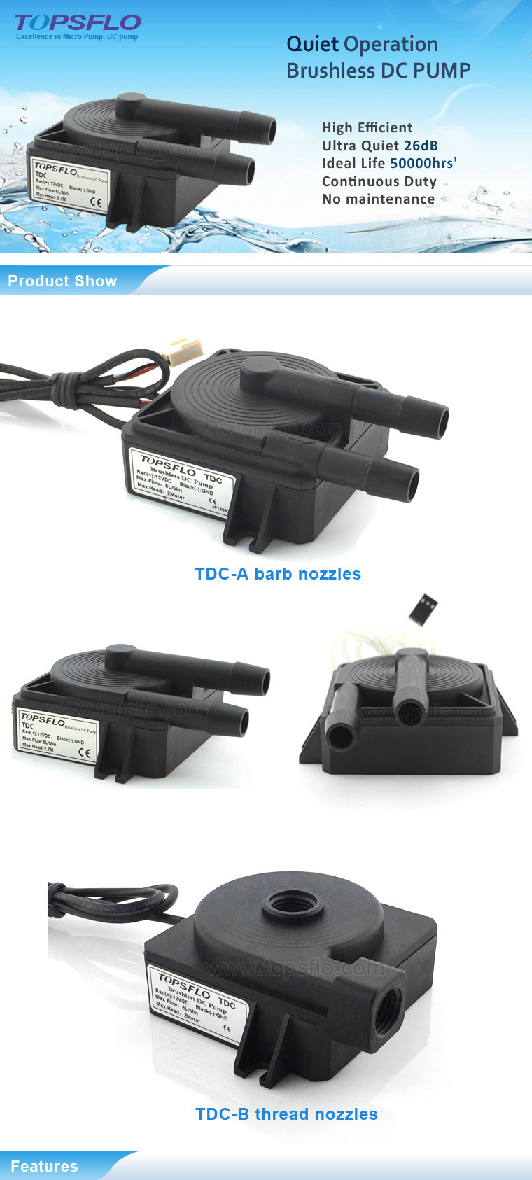 Brushless DC Pump / Cooler Circulating Pump