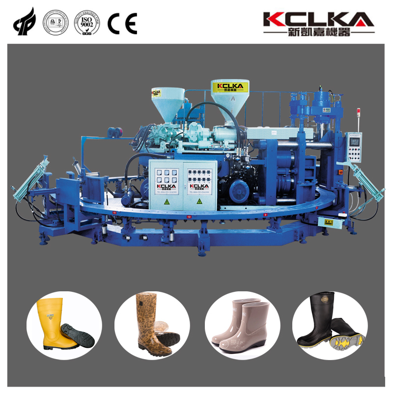 Full Auto PVC Air Blow Injection Moulding Safety Boot Machine
