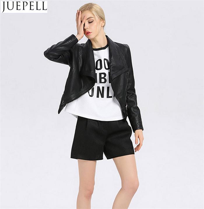 Women Leather Jacket Collar Neck Fashion Women's Short Leather Jacket