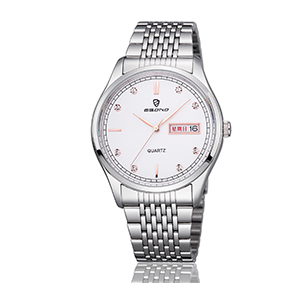 Cheap Jewellery Stainless Steel Week and Date Display Couple Wrist Watch