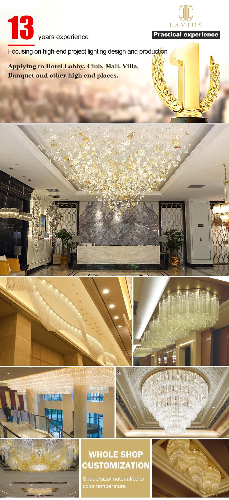 led hotel chandelier
