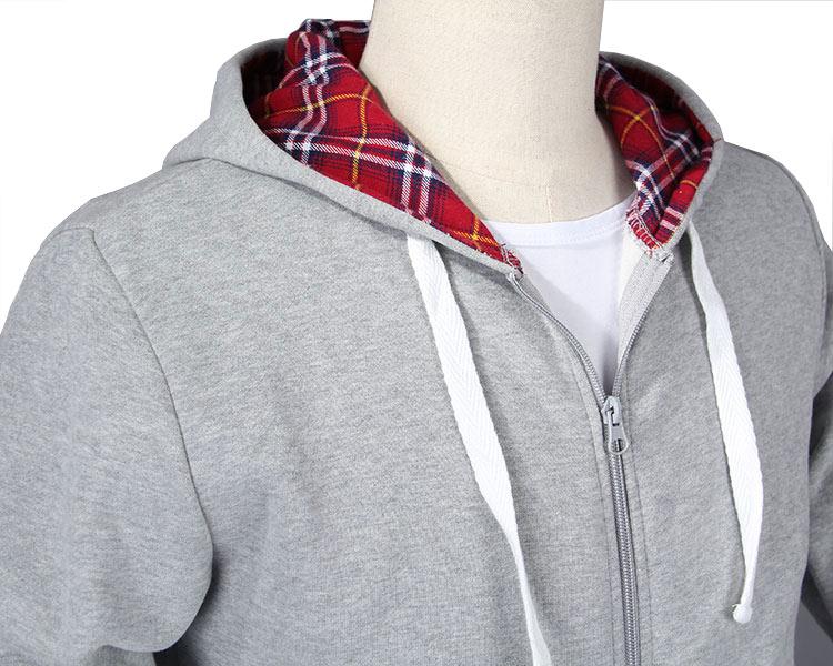 Wholesale Customized Fashion Men's Plain Fleece Gym Hoodie