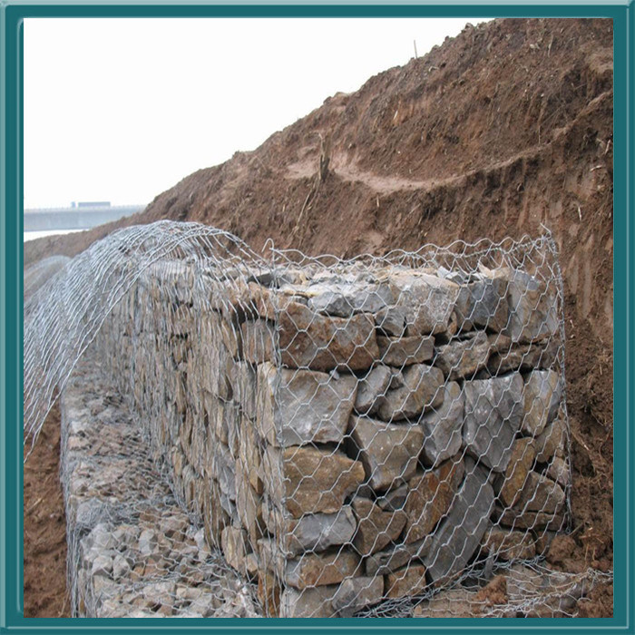 2014 Hot Sale Firm and Durable Galvanized Stone Gabion Cage