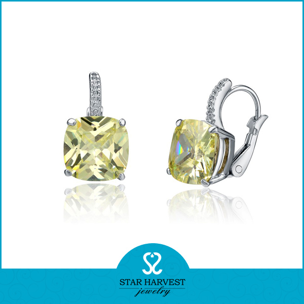 2014 Fashion 925 Sterling Silver Stone Earrings (SH-E0049)