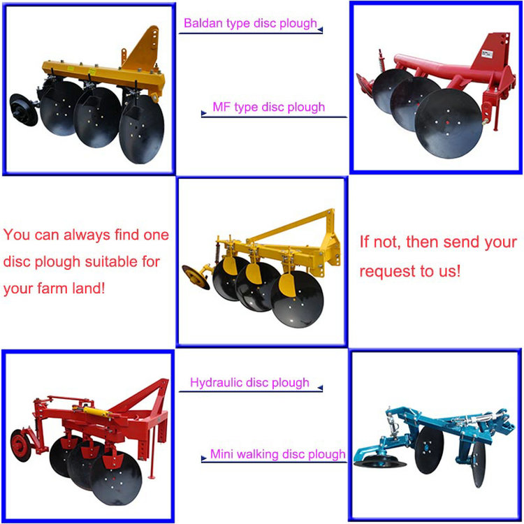 Best Quality Agricultural Equipment Heavy Disc Plough for 160HP Tractor