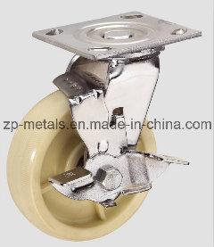 4inch Heavy-Duty Nylon Caster Wheel with Brake