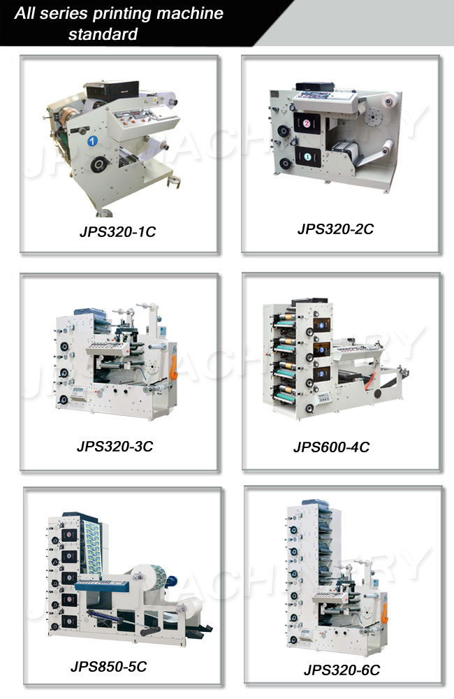 Jps320-4c Non-Woven Fabric Flexographic Printing Machine