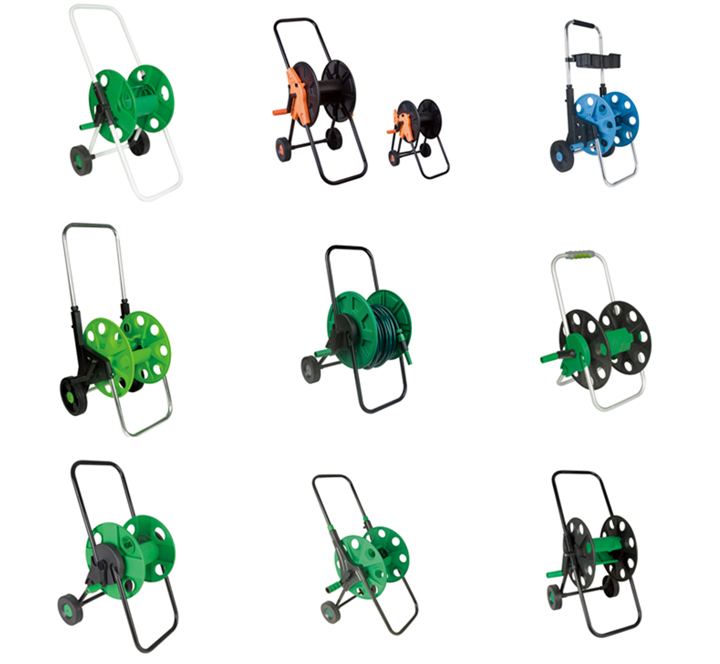 Portable Garden Water Hose Reel Cart with Wheels