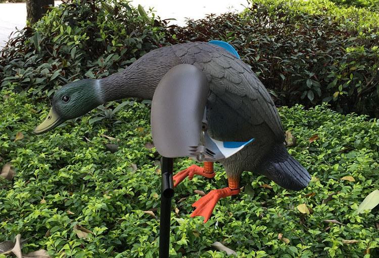 Outdoor View Wind Duck Wood Standing Duck Model HK38-0006