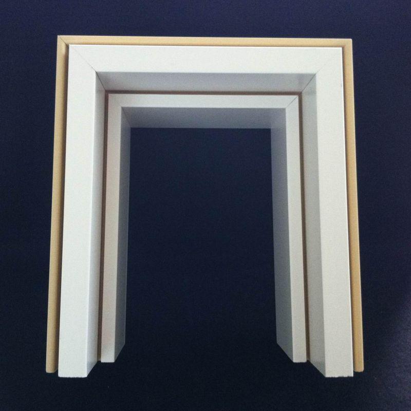 E Style WPC Door Frame WPC Door Jamb WPC Door Pocket WPC Door Architrave Df-120W50