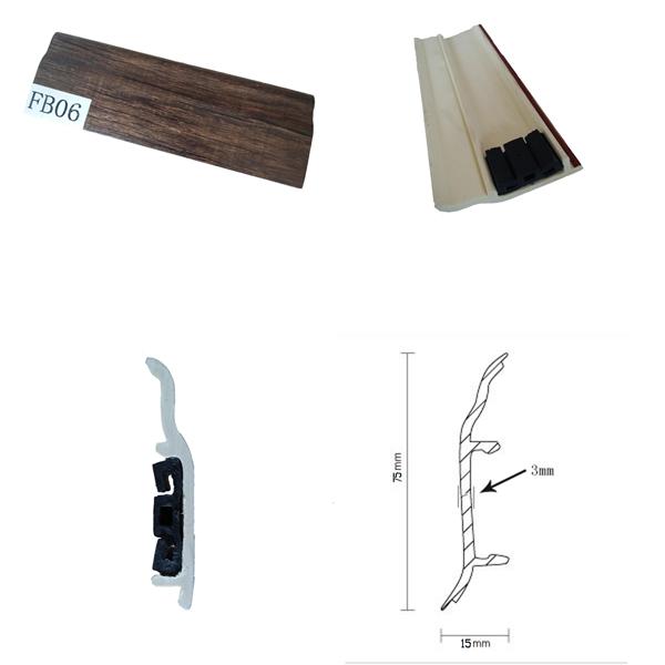 Flooring Accessories Plastic Skirting PVC Skirting for Laminate Flooring