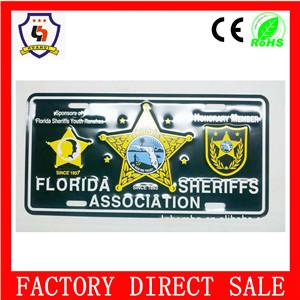 Custom Logo Printed Aluminum Metal License Plate Frame