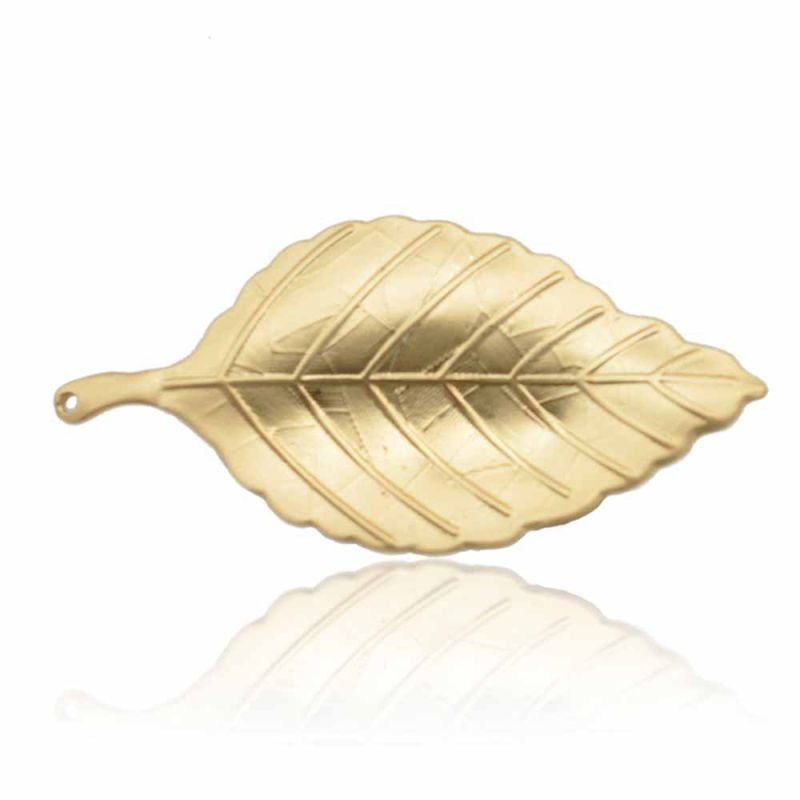 Fashion Zinc Alloy Silver and Gold Plated Leaves Brooch for Lady