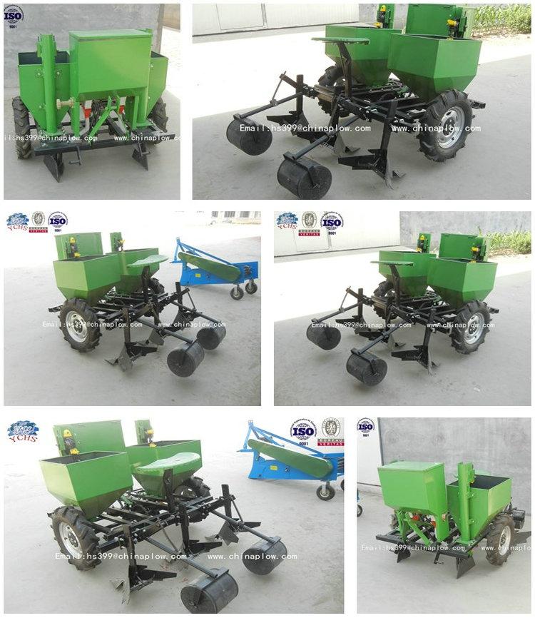 Adjustable Tractor Drive Two Row Mini Potato Planter