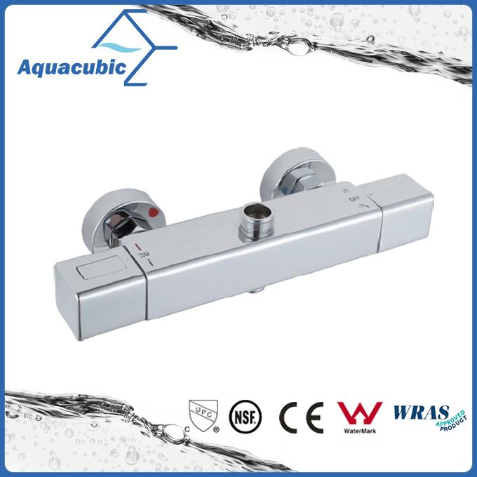 Square Bar Mixer Shower Valve Thermostatic Chrome Bathroom Set (AF4316-7)