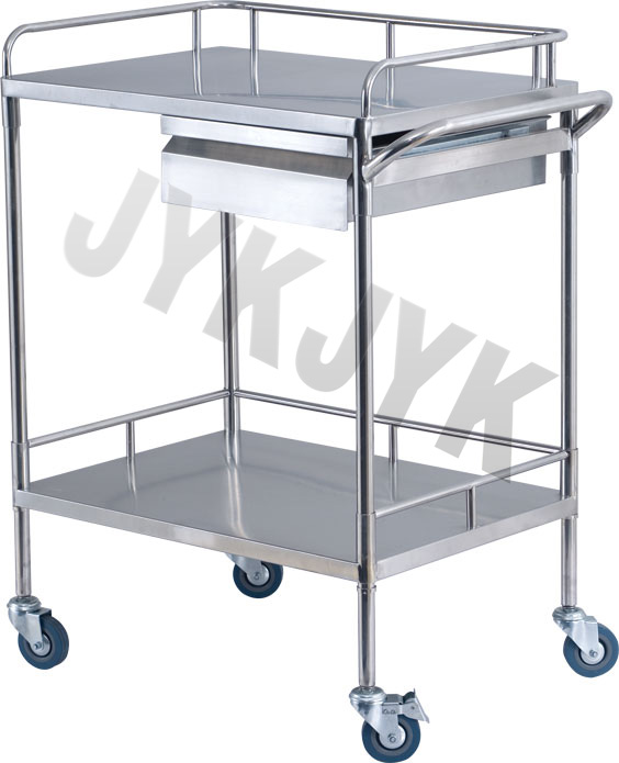 S. S. Treatment Trolley with Two Shelves