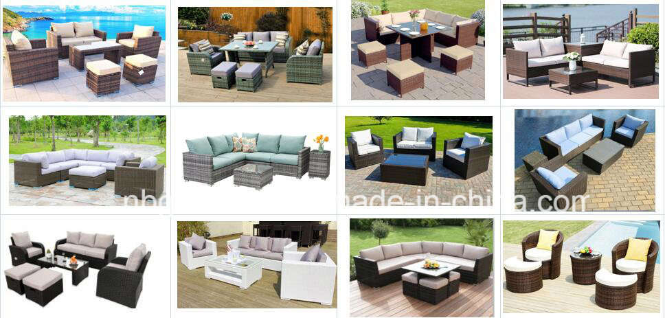 5 Piece Cushioned Garden Patio Rattan Wicker Sofa Sectional Outdoor Furniture Set