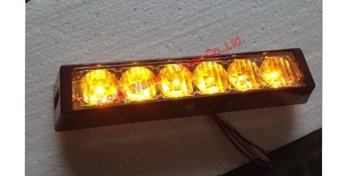 6W LED Lightheads Emergency Vehicle Warning Lights