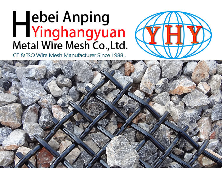 70mn 25mm Opening Woven Wire Screens for Vibrating
