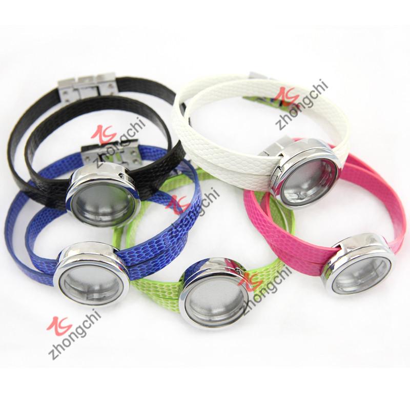 PU Leather Locket Bracelet for Young Girls Fashion Decoration (ZC-BL194-196)