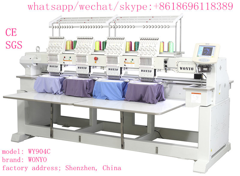 4 Head 12 Needle Cap Embroidery Sewing Machine Wy1204c