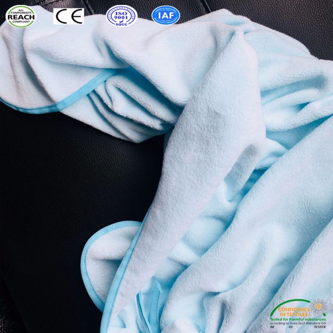 Children Soft Hooded Bathrobe Bath Towel Shower Set Bathroom