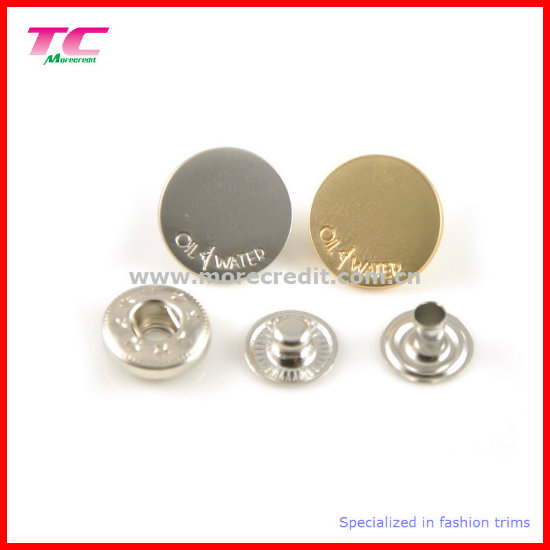 Anti Brass Blank Flat Cap Spring Snap Button