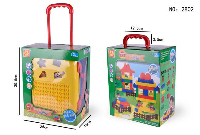 Construction 64PCS 69PCS Luggage Building Blocks Baby Toy